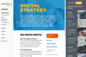 Digital Strategy Page