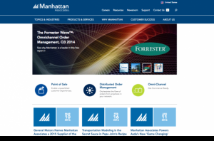 Manhattan Associates Drupal 8 Redesign Homepage