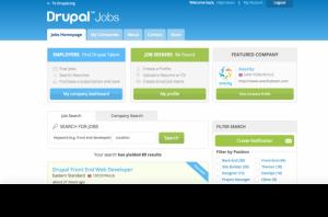 Drupal Job Board homepage