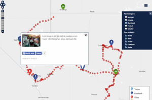 homepage with map