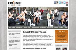 CrossFit Long Beach website screenshot
