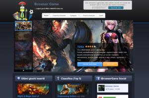 iBrowserGame homepage screenshot
