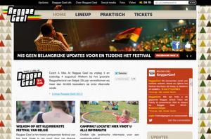 Reggae Geel website sceenshot