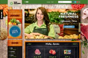 Screenshot of El Rio Grande Homepage