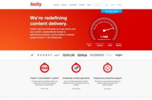 Fastly homepage