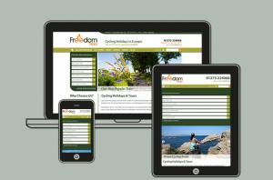 Freedom Treks homepage on all devices