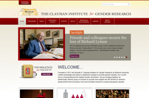 Stanford Clayman Institute for Gender Research frontpage