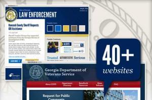 Georgia.gov website collage