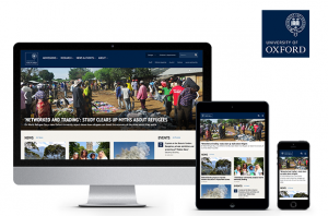 Oxford University homepage screehshots