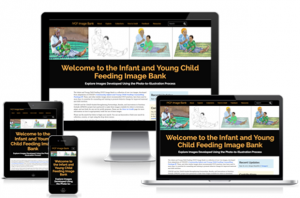 Screenshot of the home page of the IYCF Image Bank on multiple devices