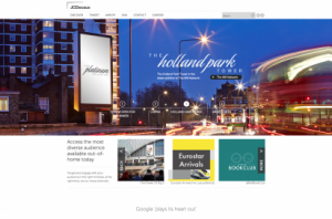 JCDecaux UK homepage
