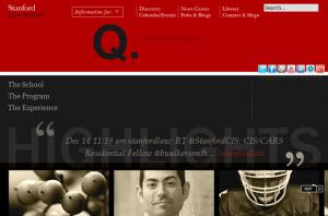 Stanford Law School Homepage Screenshot