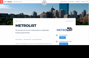 The City of Boston's Metrolist for Affordable Housing