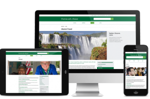 Dartmouth Alumni site on different interfaces