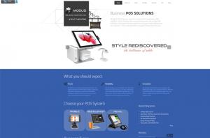 Modus POS main page screenshot