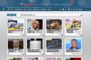 Newstica homepage