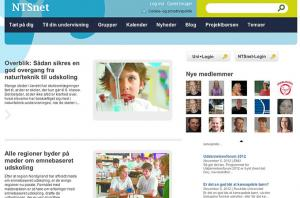 web portal for Danish National Center for Teaching of Natural Sciences and Healt
