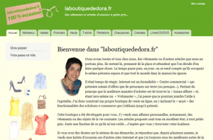 Home page of laboutiquededora.fr