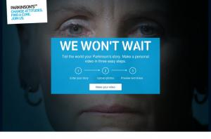 Parkinson's UK, We Won't Wait home page