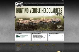 homepage screen shot of Argo ATVs