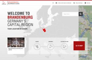 Screenshot www.brandenburg-business-guide.de