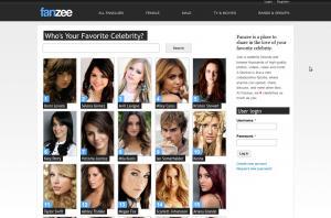 Fanzee homepage screenshot