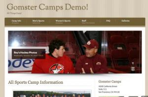 Gomster Sports Camp Websites Demo