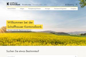 Homepage of shkb.ch