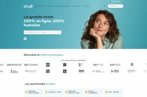 Studi website's homepage