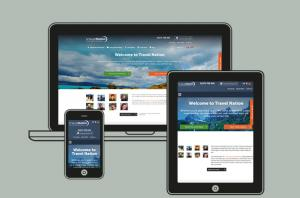 Travel Nation homepages on all devices
