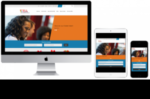 WEA site on desktop, tablet and mobile devices