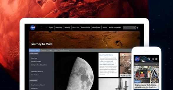 Mobomo designed, developed, and deployed a modern fully responsive, user-centric, secure, Drupal platform for NASA