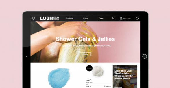 Image mockup of Lush on an iPad