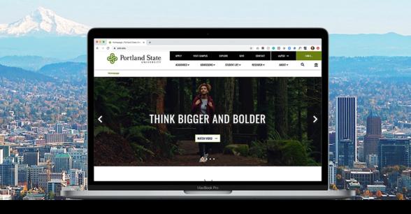 Portland State University website