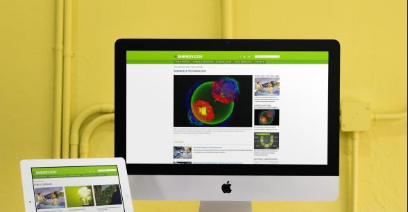 Image of IMac and Ipad with energy.gov site pages displayed on them