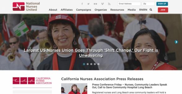 National Nurses United California Nurses Association Page