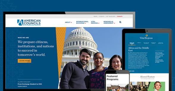 American Councils for International Education Drupal 8 Site