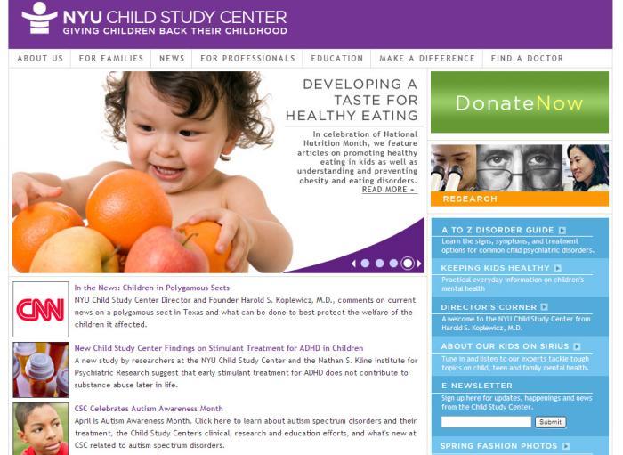 NYU Langone Medical Center - Child Study Center | Drupal org