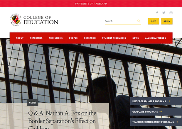 University Of Maryland College Of Education Drupal Org