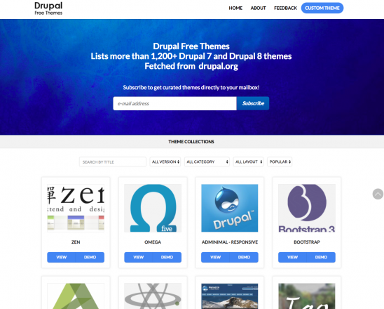 Drupal Free Themes The Best Way To Search Drupal Themes Ever Drupal Org