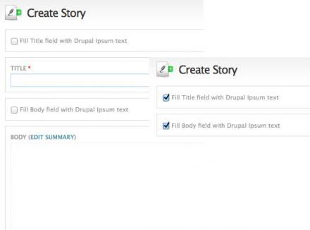 Drupal Ipsum node form integration