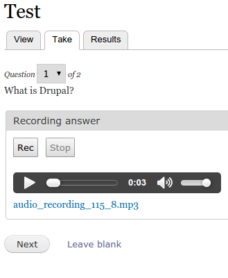 drupal quiz module documentation