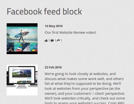 Facebook_feed Drupal block module screenshot 2017-07-30