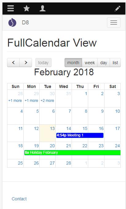 Fullcalendar View   Drupal org