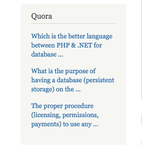 Quora - Related Questions / Posts | Drupal org