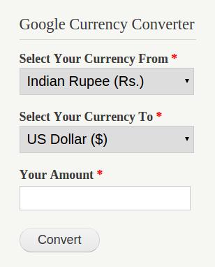 Google Currency Converter Drupal Org