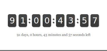 jQuery Countdown Timer | Drupal org