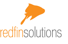 redfin solutions logo with fish jumping