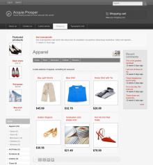 Acquia Prosper theme - Ubercart catalog page