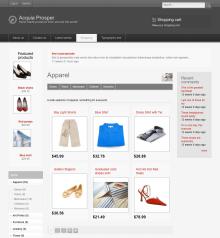 Acquia Prosper theme - Ubercart catalog page